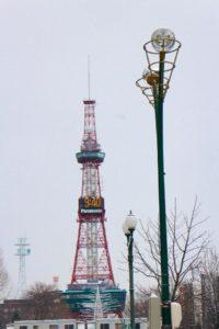 Clock Tower di Hokkaido Musim Dingin