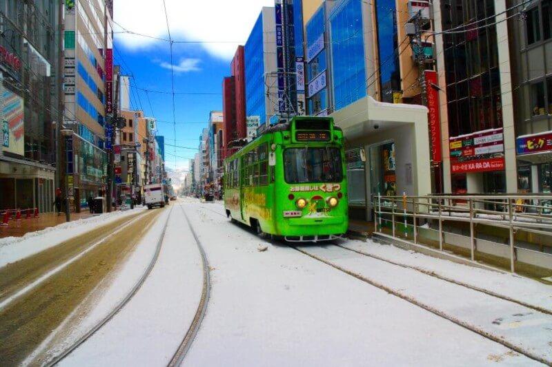 Salah Satu Trem di Hakodate
