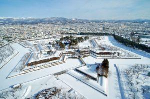 Fort Goryokaku musim dingin
