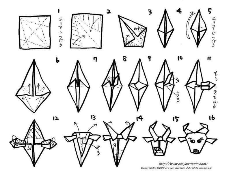 Teknik Cara Membuat Origami