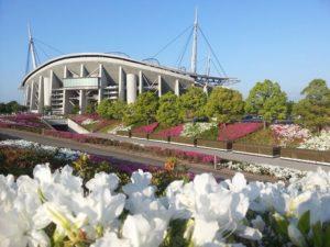 Stadion Toyota Ketika Musim Panas di Jepang