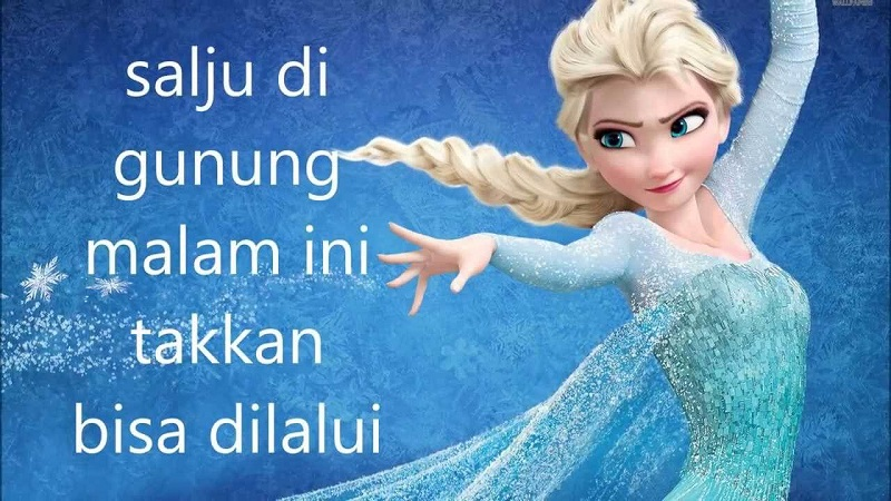 Not Lagu Let it Go Indonesia