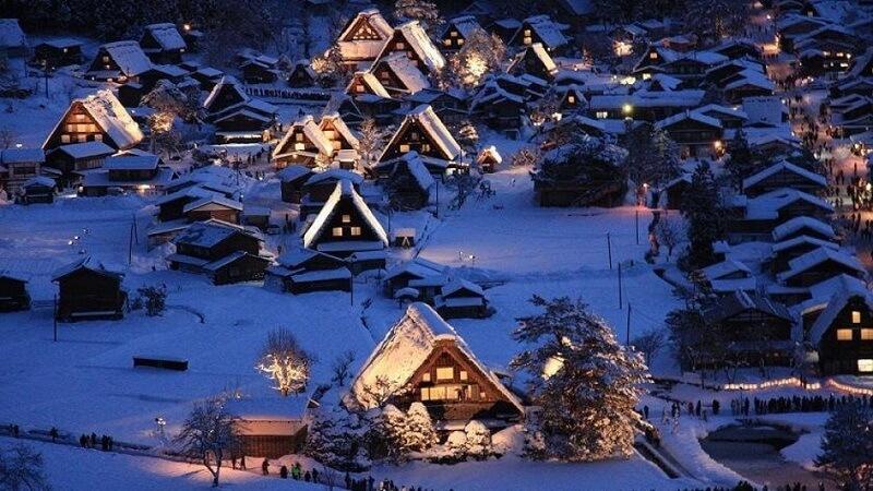 Musim Salju di Jepang Shirakawa Go