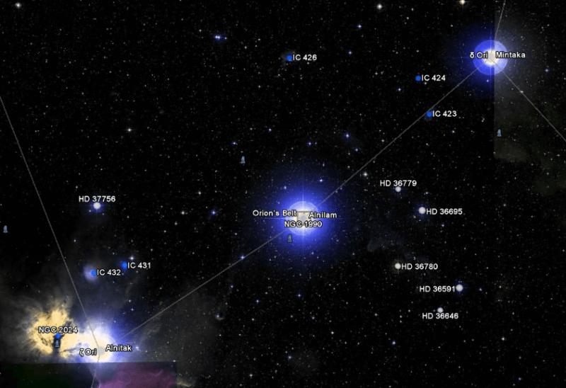 Arah Mata Angin Rasi Bintang Orion
